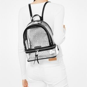 Michael Kors Bags - Michael Kors Rhea Clear Logo Backpack